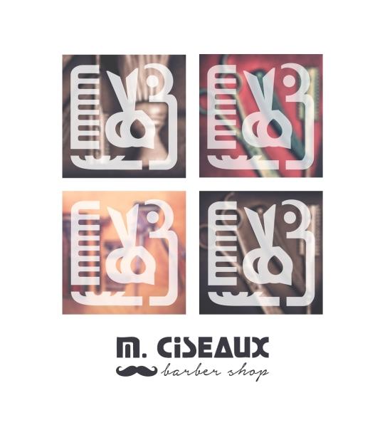 Logotype for M. Ciseaux Barber Shop