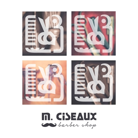 Logotype for M. Ciseaux Barber Shop