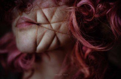 rebecca lena portrait red wire